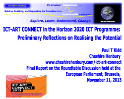 ict, art & STARTS: report cover page